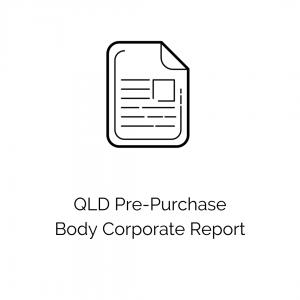 QLD Pre-Purchase Body Corporate Report